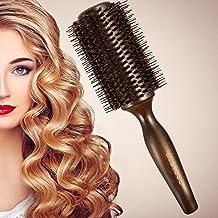 bestool pelo cepillo con cerdas de jabalí y nailon de peinado para el cabello, secado, rizado, adición de pelo Volumen y Brillo (cepillo redondo)