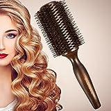 BESTOOL Haarbürste mit Wildschweinborsten und Nylon für Haar-Styling, Trocknen, Curling, Hinzufügen von Haar Volumen und Glanz (Rundbürste )
