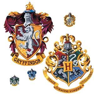 Roommates Rmk1551Gm - Vinilo adhesivo decorativo para pared, diseño de escudo de Harry Potter 13