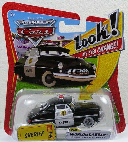 Disney Pixar Cars Sheriff (lenticular, look! my eyes change!) - Véhicule Miniature - Voiture