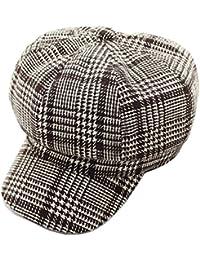 1e129580061 VGLOOKO Womens Wool Berets Beanies Cap Hats 8 Panel Baker Boy Flat Caps  Newsboy Hat