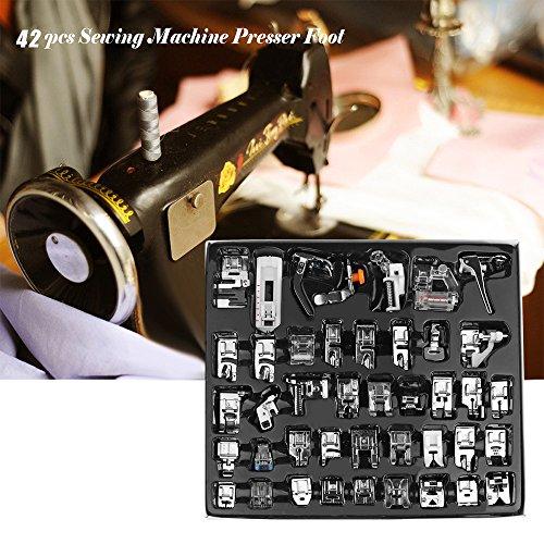 = Kit di piedini da orlo per macchina da cucire, adatti per macchine Brother, Singer, set da 42 pezzi comprare on line