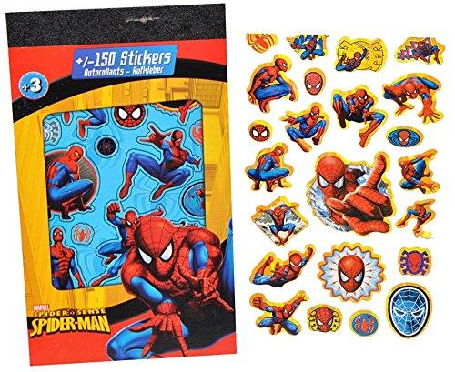 Preisvergleich Produktbild 150tlg. XL - Set Sticker / Aufkleber - Disney Spiderman - Kinder Kind klein Spider Man z.B. für Stickeralbum Stickerblock / Kindersticker - Stickermappe