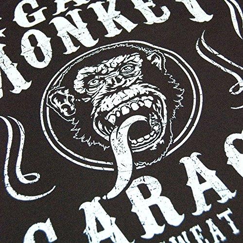 Herren Offizielle Gas Monkey Garage Blut Schwitzen Bier T-Shirt Schwarz Schwarz