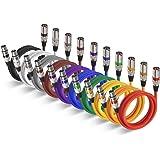 Câble XLR EBXYA Câble Jack XLR Cable dmx Mâle à Femelle Câble de Microphone Professionnel 1M 10pack