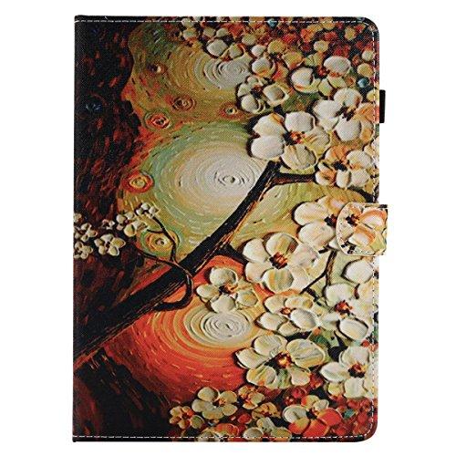 Lspcase Galaxy Tab A 9.7 SM-T550 / SM-P550 Hülle Blume Muster Schutzhülle PU Leder Etui Case Brieftasche mit Auto Schlaf/Aufwach, Stifthalter und Kartenschlitz für Samsung Galaxy Tab A 9.7 Inch -