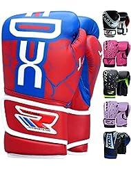 RDX Maya Cuero Niño Guantes Boxeo Saco Sparring Entrenamiento Mitones Muay Thai Kick Boxing