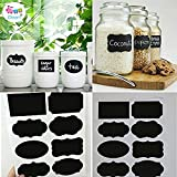 #9: Idream 40Pcs Home Kitchen Blackboard Stickers Removable Chalkboard Labels (With Pen) For Fridge, Plastic Jars