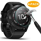 CAVN Tempered Glass Compatible with Garmin Fenix 6 / Fenix 6 Pro Screen Protector [Pack of 4] Waterproof Glass…