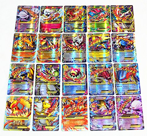 NEW Pokemon TCG EX 60pcs Large Mega EX Card Strongest Combination Best Gift