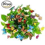 Mariposas en varillas Cefan, 9,9 cm, para jardines, patios, macetas y decoraciones, paquete de 30