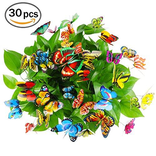 cefan 30pcs mariposa estacas 3,9
