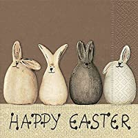 20 Servietten Happy Easter Bunnies – Happy Easter Hasen / Ostern / Frühling 33x33cm
