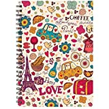 #10: PRINTELLIGENT Plain Pages Notebook - Personal Diary, Doodle, Notes, Planner - A5 Size - 140 Pages - Wire Bound(DESIGN15)
