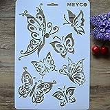 ?Dasuke A4 DIY Handwerk Schmetterling Schichtung Schablonen Album Stempeln Vorlage Zeichenwerkzeug