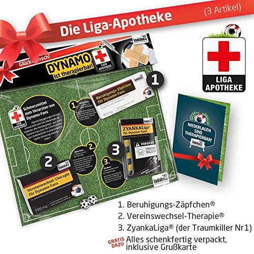 Geschenk-Set: Die Liga-Apotheke für SG Dynamo-Fans | 3X süße Schmerzmittel für SG Dynamo Dresden Fans | Die besten Fanartikel der Liga, Besser als Trikot, Home Away, Saison 18/19 Jersey - Dynamo-fußball-jersey