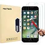 MaxTeck iPhone 6 6S 7 8 Screen protector, 0.26mm 9H Tempered Shatterproof Glass Screen Protector Anti-Shatter Film for...