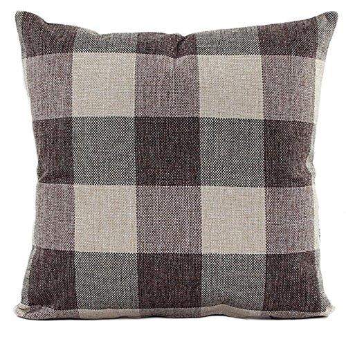 Xmiral Kissenbezüge Lattice Sofa Bed Einfach Zierkissenbezüge Leinenmischung ()