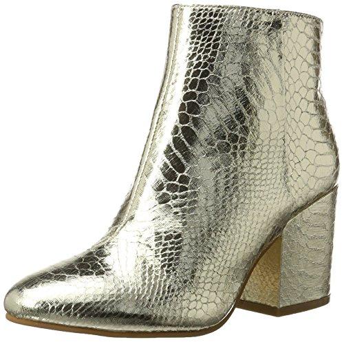 Buffalo Shoes Damen 416-6358 Metallic Snake PU Stiefel, Gold (Gold 01), 38 EU