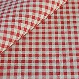 Canvas Baumwollstoff Meterware Vichy Karo Muster Baumwolle