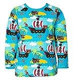 JNY Colourful Kids Jungen T-Shirt PIRATEN in blau- Bio-Baumwolle (92, Langarm)