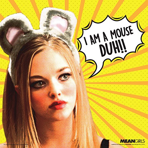 Culturenik Mean Girls Karen Maus Duh Teen Komödie Film Poster Druck 12Wx12L Yellow, Orange, White (Ich Bin Ein Maus Kostüm)