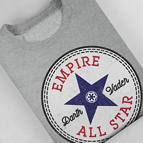 Star Wars Rogue One Darth Vader Converse Logo Women's Sweatshirt Heather Grey
