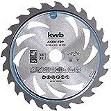 kwb 584754 Energibesparande cirkelsågblad Easy Cut, Ø 165 x 20 mm tunn sektion med speciell växeltand 24 tänder Z24, AKKU-TOP