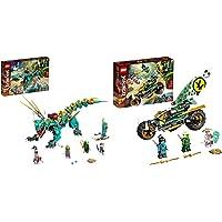 LEGO Ninjago Dragone Della Giungla, Costruzioni Per Bambini 8+ Anni Con 4 Minifigure & Ninjago Moto Della Giungla Di…
