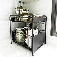 ZYHA Cuisine sous évier étagère de Rangement Double Couche,Organisateur de Cuisine réglable,Maison Cuisine Salle de Bain…