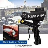 Schwerkraft-Sandstrahlpistole Portable Speed Blaster zum Entfernen von Rost (Farbe: schwarz)