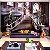Zxfcccky Benutzerdefinierte Fototapete Europäischen Stil Kirche Engel 3D Wandbild Hotel Wohnzimmer Landschaft Tapeten Tapete 3D Sala-120X100CM
