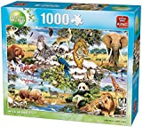 King KNG05481 Animal World Wild Animals Puzzle (1000-Piece)