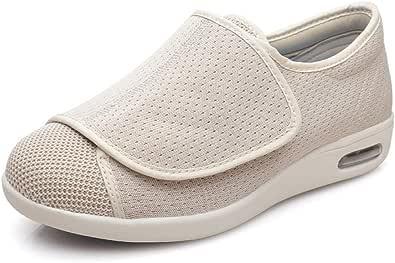 Pantofole Regolabili Strappo,Lose Daumen Valgus Schuhe, deformierte Füße Vollöffnung Diabetiker Schuhe,Uomo Ortopediche Scarpa