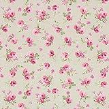 Fabulous Fabrics Canvas Rosalie 2 Natur - Meterware ab 0,5m
