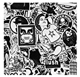 ZJJHX Coole Schwarz-Weiß Motorrad Aufkleber Graffiti Bomb Aufkleber Set Selbstgemachtes Skateboard...