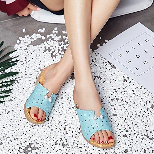 ZYUSHIZ Synthetischer Diamant Frauen Schuhe Hausschuhe Outdoor Freizeitaktivitäten Sandalen 35EU