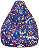 Amazon Brand - Solimo Summer Blues XXL Printed Bean Bag Cover Without Beans