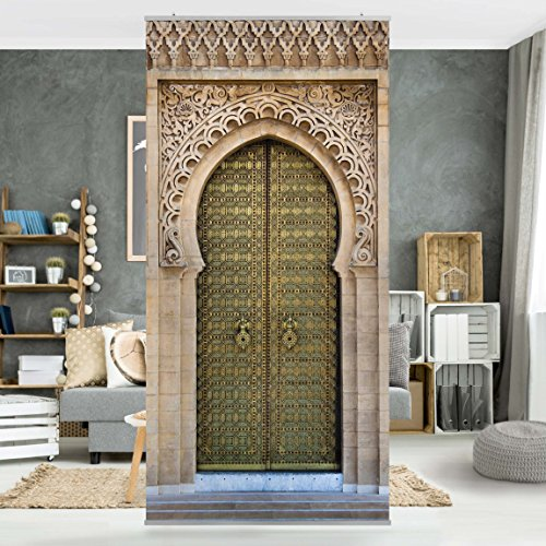 panneau rideau oriental gate 250x120cm support au choix. Black Bedroom Furniture Sets. Home Design Ideas