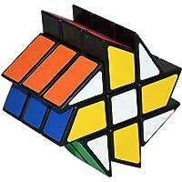 Coolzon Fenghuolun Puzzle Cube Spécial Cubo Jouet de Vitesse Version Autocollant de PVC 57mm, Noir …