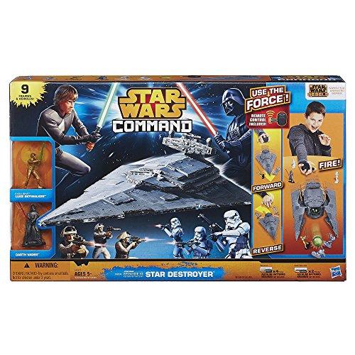 Star Wars Destroyer Spielset- Sternenkreuzer (mit Fernbedienung) und 9 Star Wars Figuren