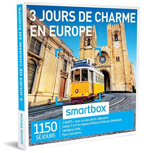 SMARTBOX - Coffret Cadeau homme femme couple - 3 jours de charme en Europe - idée...
