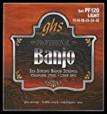 GHS PF120 Jeu de 6 Cordes pour Banjo Light