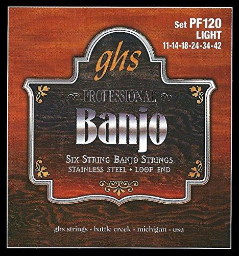 GHS PF120 6er-Set Banjo Light