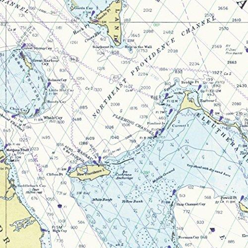 autischem Muster, 71,1 x 50,8 cm, 5 Blatt Beautiful Straits of Florida, Bahamas Map Edition. Einzigartig, langlebig und recycelbar - von Journo Travel. 2 Ausführungen erhältlich ()