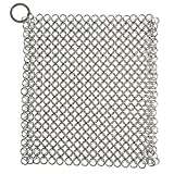 LEADSTAR Ghisa Cleaner Stainless Steel Chainmail Scrubber Heavy Duty Pan Antiossidante Detergente per Cookwares (17,8 x 17,8 cm)