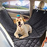 Rabbitgoo Dog Car Seat Cover Protector Rear Seat dog Mat Pet Back Seat Cover Nonslip Scratch-proof 100% Waterproof and Anti-fouling |Universal Fit for All Cars,Trucks,SUV & Vehicles- Size 147*137cm Black