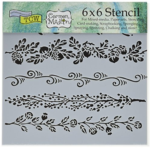 "Bible Journaling Stencils - Fanciful Borders (6"" X 6"")"