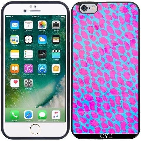 Coque Silicone pour Iphone 6/6S Plus - Guépard Rose Fluo