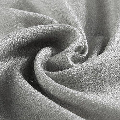 Grays Seide Pullover (Tücher und Schals MEIDUO Schal Schal Damen Frühling und Herbst Winter Übergroße Viele Farben 230 * 90 cm (Farbe : Grau))